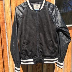 CHOR retro Black & white zippered coat